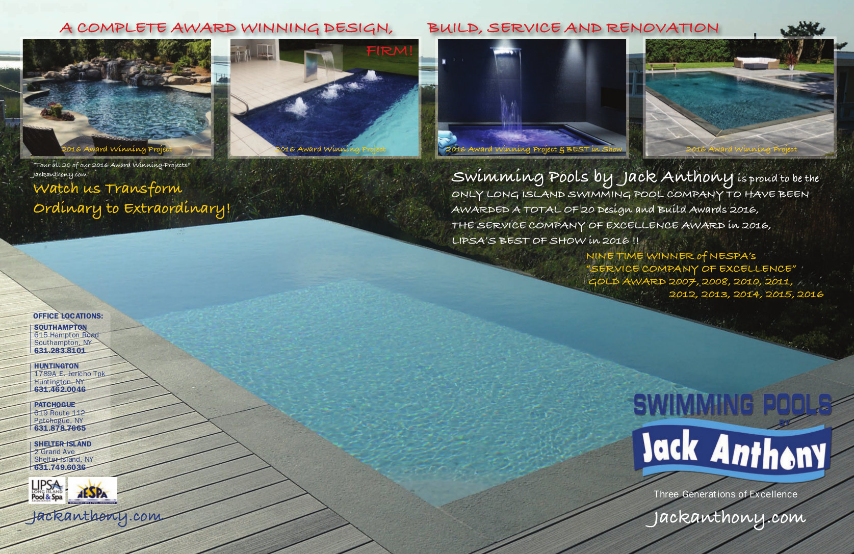 Latest And Greatest Jack Anthony Swimming Pools - Anthony pool light parts